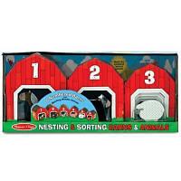 Развивающая игрушка Melissa&Doug Набор блоков-сараев с животными (MD12434)