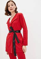 Жіночий кардиган з поясом Подіум Alexis 27553-RED S Червоний