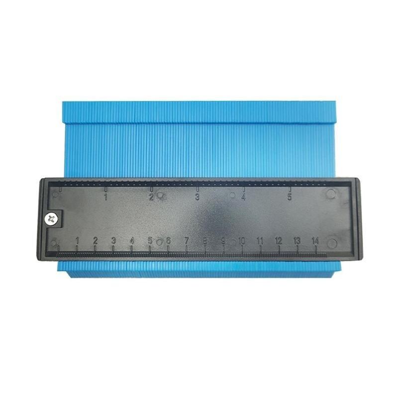 Універсальний вимірювач контуру SUNROZ контурна лінійка 14 см Синій (5652)