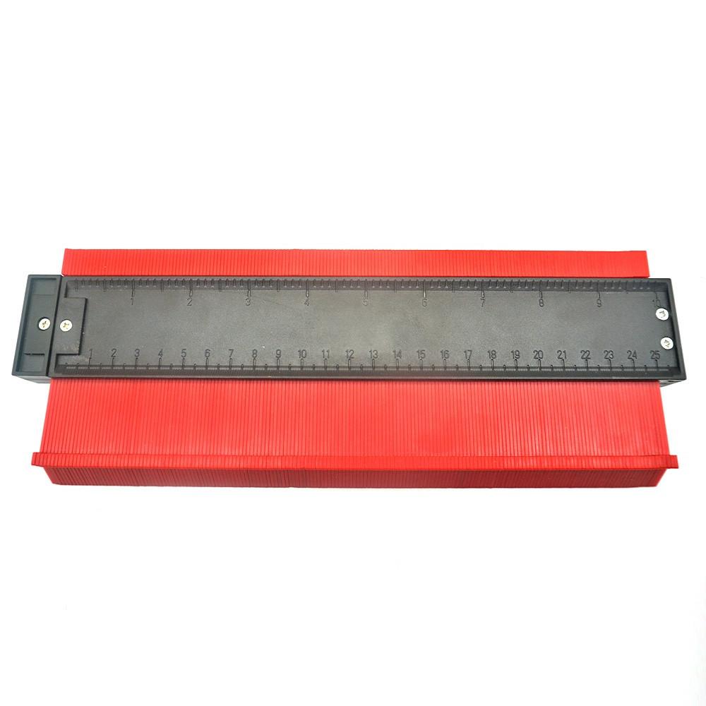 Універсальний вимірювач контуру SUNROZ контурна лінійка 25 см Червоний (5656)