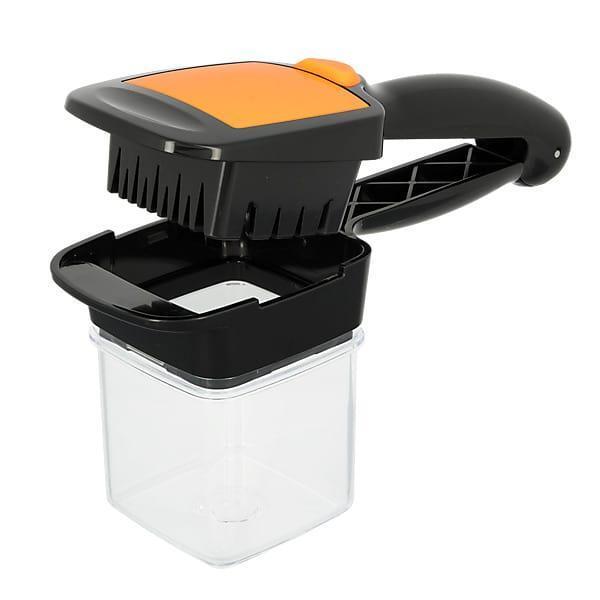 Пристрій для нарізки овочів SUNROZ Nicer Dicer Quick овочерізка 5 в 1 Чорно-Оранжевий (3397)
