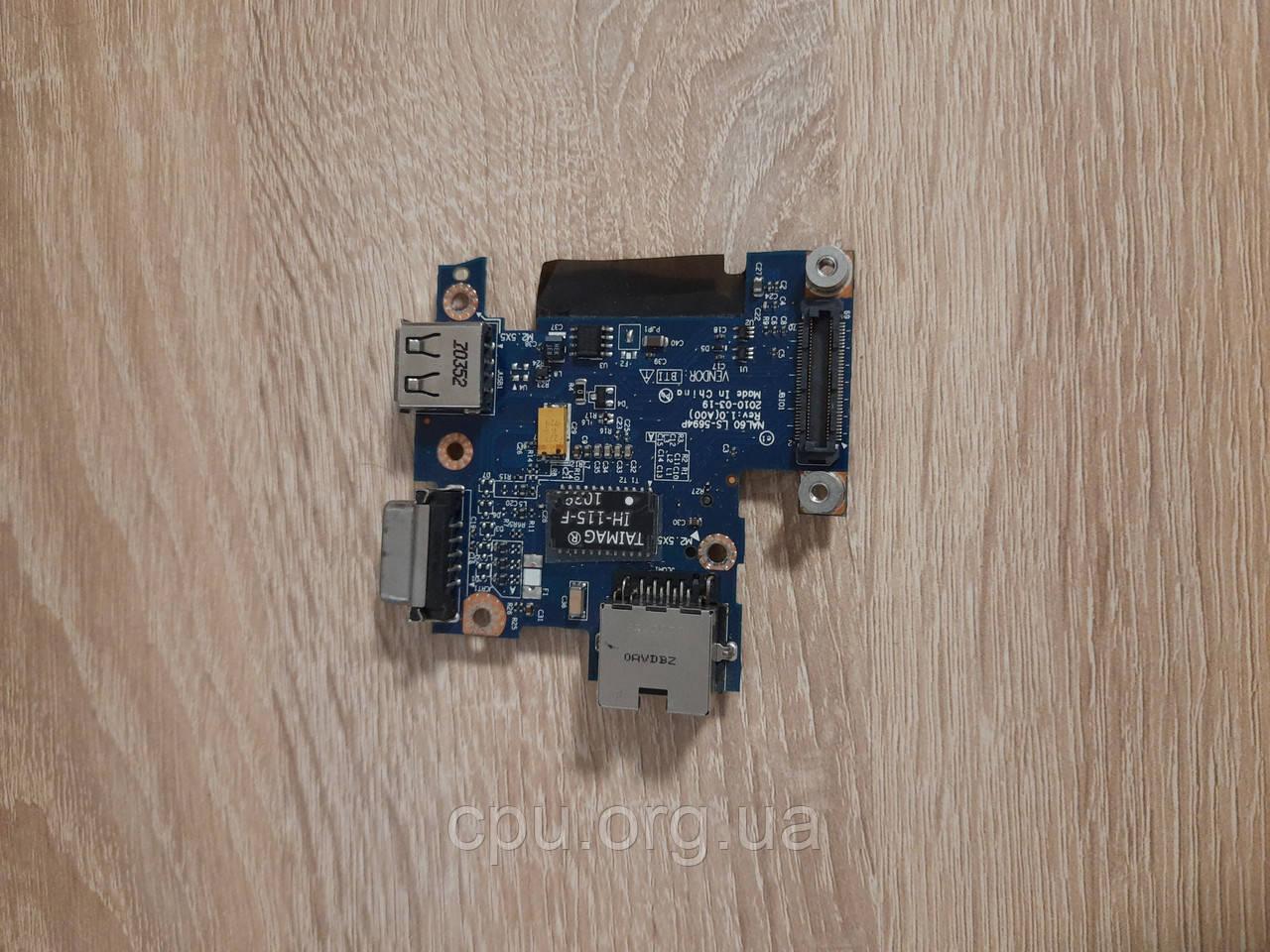 Dell Latitude E4310 плата LAN VGA USB