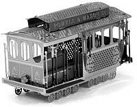 """Металлическая сборная 3D модель """"Кабельный трамвай Сан-Франциско"""", Metal Earth (MMS002)"""