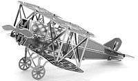 """Металлическая сборная 3D модель """"Истребитель Fokker D.VII"""", Metal Earth (MMS005)"""