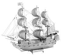 Металлическая сборная 3D модель Iconx - Black Pearl (Корабль Черная Жемчужина), Metal Earth (ICX016)