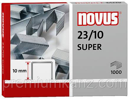 Скобы 23/10 NOVUS SUPER (1000 шт)