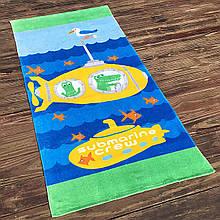 Детское пляжное махровое полотенце для мальчика, подстилка, покрывало, коврик плед