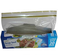 Пакети для заморожування з зіп-локSnap & Seal 20шт. 17,8см.*20,3см