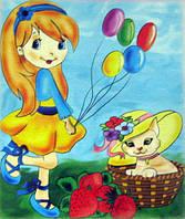 "Картина раскраска ""Юная леди"" (7109)"