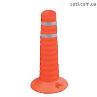 Столбик пластиковый дорожный ДС01 - 40см