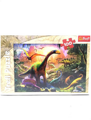 Пазл 100ел/40,8*27,6см/16277/планета динозаврів Trefl 012493, фото 2