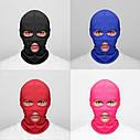 Балаклава маска (Бандитка) Синяя 1, Унисекс, фото 2