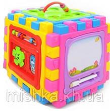 Дитячий розвиваючий кубик 6в1