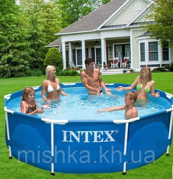 Бассейн Intex каркасный фильтр-насос,305-76 см