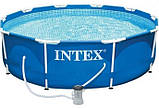 Бассейн Intex каркасный фильтр-насос,305-76 см, фото 2