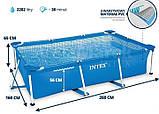 Каркасный бассейн Интекс (прямоугольный) 260-160-65см, фото 2