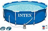 Каркасный бассейн Интекс, фильтр - насос, 3,66-76см, фото 3
