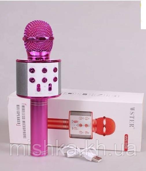Микрофон-караоке для девочки (розовый)