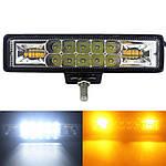 LED фара 48W 1280 Lm+стробоскоп