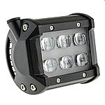 LED фара дополнительного света 18W+линза 7D 1224 Лм