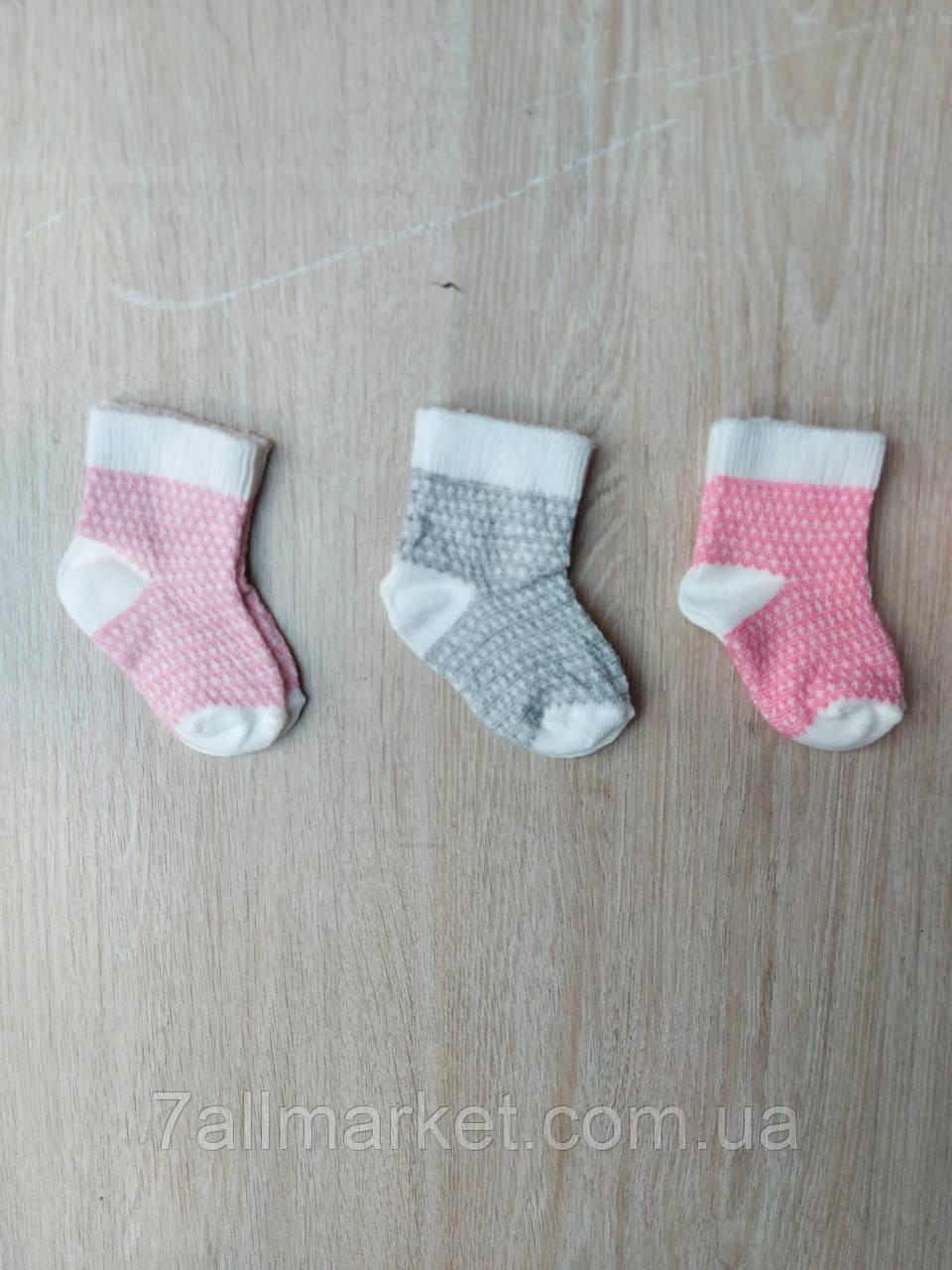 """Носки детские  на девочку размер 0 (3 шт/уп) (3 цв)""""MARI"""" купить недорого от прямого поставщика"""