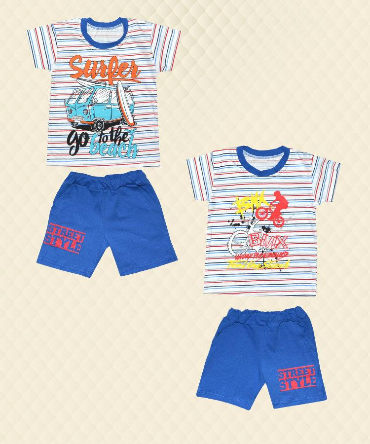 Комплект для мальчика футболка + шорты накат кулир