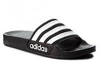 Мужские летние тапки шлепанцы adidas Черные (р.44) (LZ)