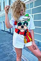 Модная футболка женская с принтом Гуффи  LUREX - белый цвет, M (есть размеры), фото 1