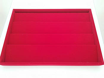 Планшет для кулонов и серег красный