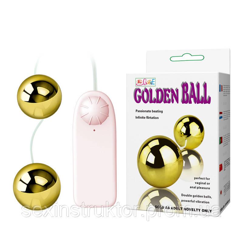 Вагинальные шарики - Golden Balls, two vibrators, multispeed, 2AA batteries,ABS