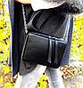 68-4 Натуральная кожа Сумка женская кросс-боди желтая Кожаная сумочка с цепочкой Сумка кожаная желтая лимонная, фото 5
