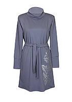 Платье ЛОЗА,классика,ворот,французский трикотаж