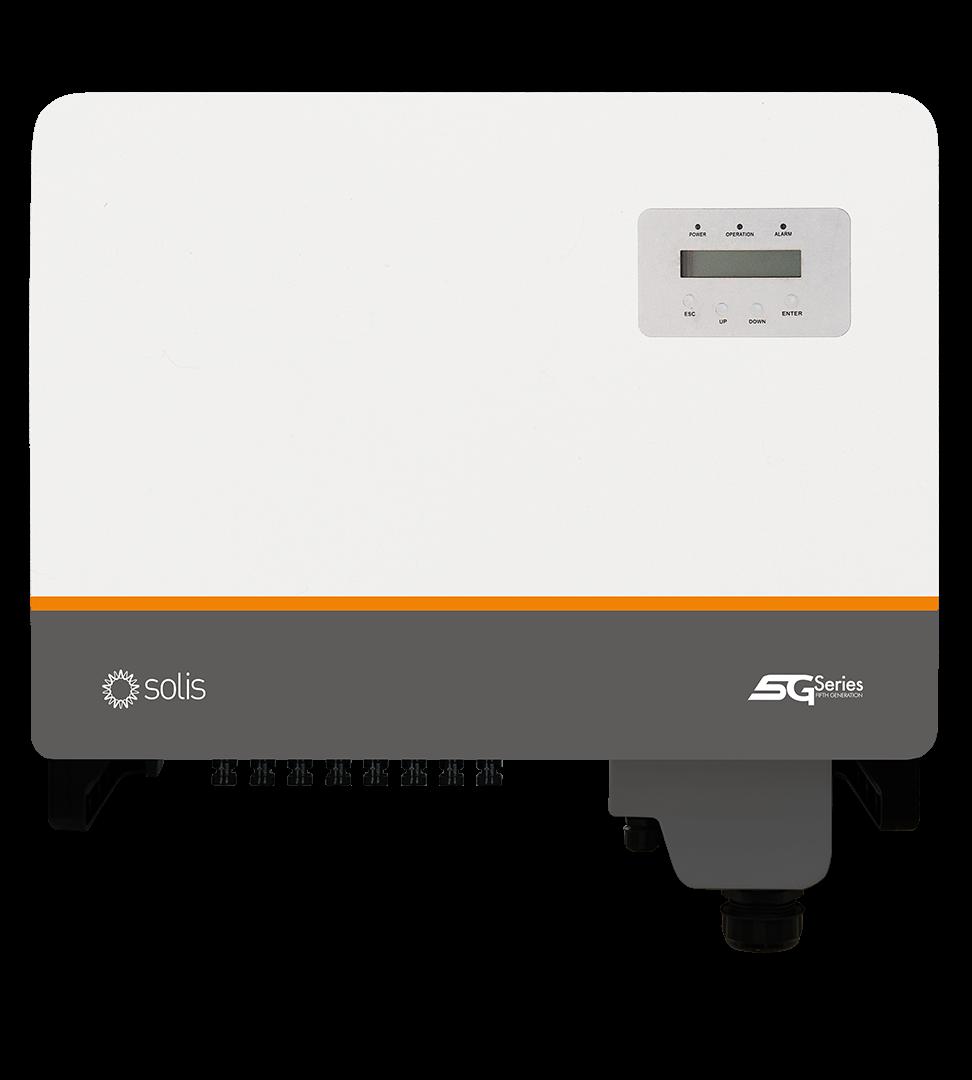 Мережевий инверторSolis-30K-5G-DC (30кВ, 3-фазний, 3 МРРТ)