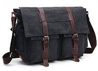 Сумка на плечо текстильная Vintage 20076 Черная, фото 1