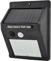 Светильник UKC 609-30 с датчиком движения и солнечной панелью 30 smd диодов настенный уличный Black