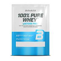 Протеин BioTech 100% Pure Whey, 28 грамм Клубника