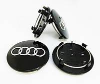 Колпачки для оригинальных дисков Ауди (черные)