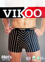 Трусы мужские боксеры VIKOO хлопок + бамбук ТМБ-18109