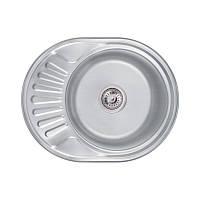 Кухонна мийка Lidz 6044 Decor 0,8 мм (LIDZ5745DEC)