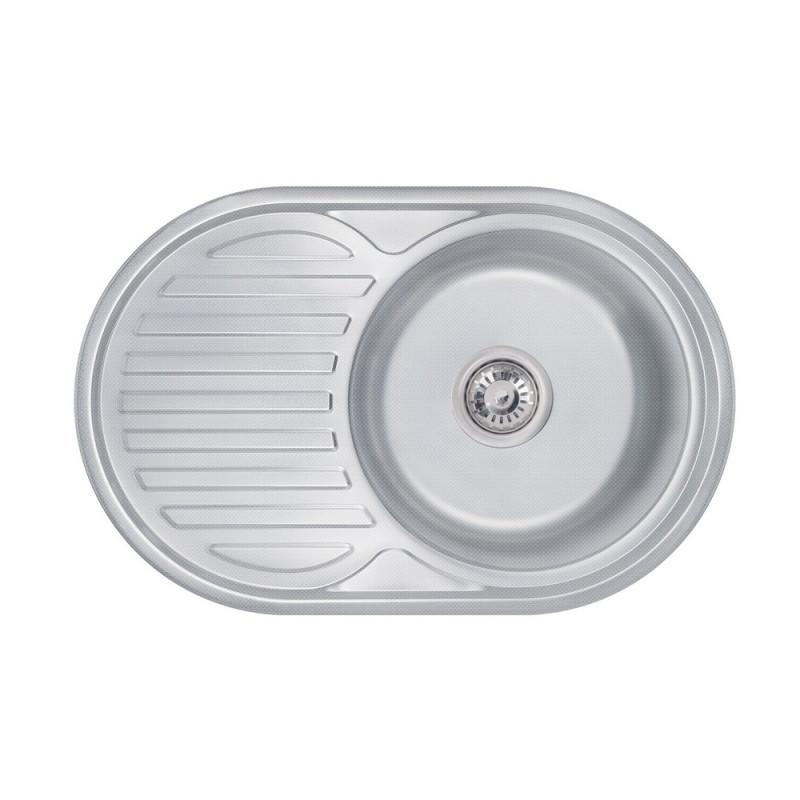 Кухонная мойка Lidz 7750 Decor 0,6 мм (LIDZ775006DEC160)