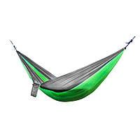 Гамак подвесной для дачи, цвет хаки+темно-зеленый , туристический переносной гамак | 🎁%🚚