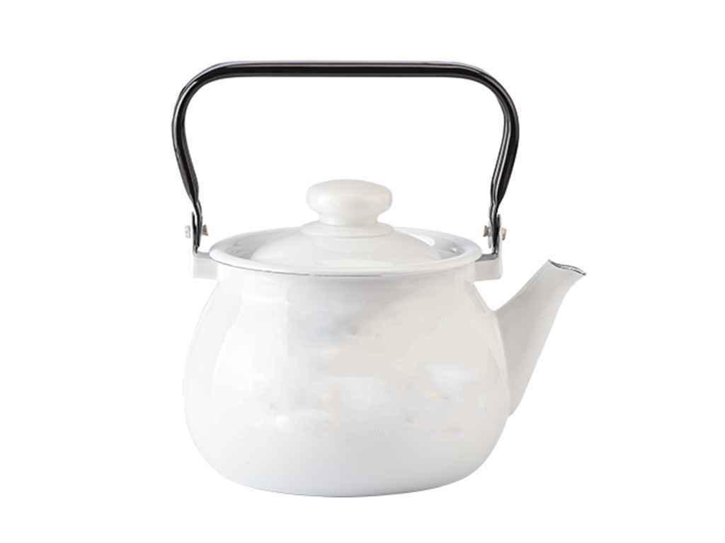 """Чайник эмалированный 2,5 л Белый """"Idilia"""""""