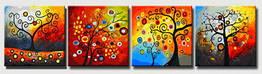 """Картина раскраска по номерам MENGLEI """"Квартет. Дерево счастья"""" (MMM4003) Квартет 50 х 200 см"""