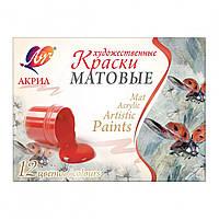Краски акриловые матовые художественные 6 цв. 15 мл 29С1746-08