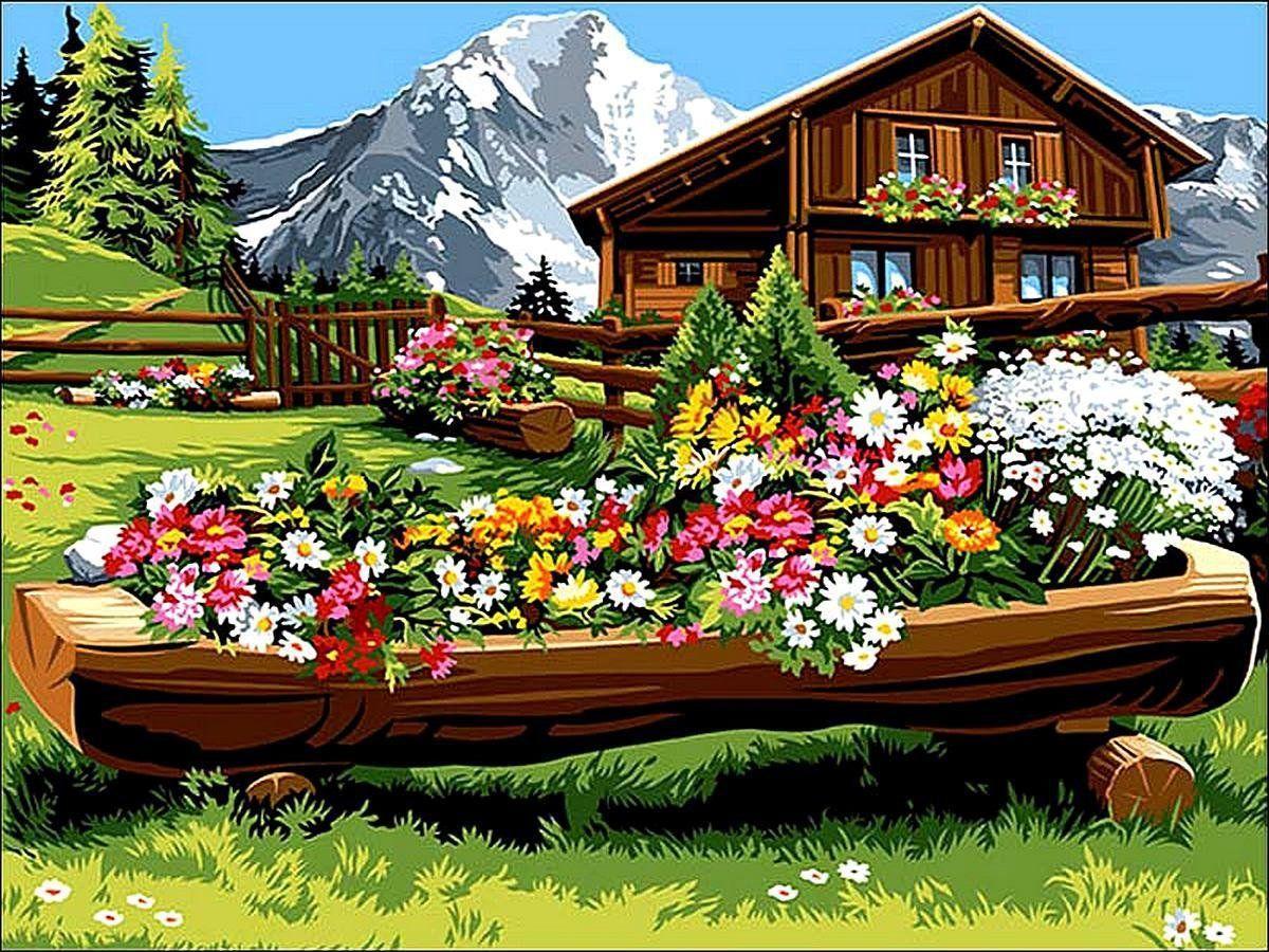 VK063 Раскраска по номерам Спокойствие и уют