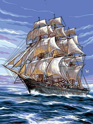 VK138 Раскраска по номерам На всех парусах, фото 2