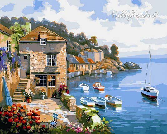 VP211 Раскраска по номерам Дом на берегу океана худ. Сунг Ким, фото 2