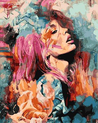 VP983 Раскраска по номерам Розовый цветок худ. Димитра Милан, фото 2