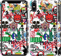 "Чехол на iPhone XS Max Many different logos ""4022c-1557-39839"""
