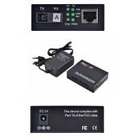 Медиаконвертер 10/100Base-TX to 100Base-FX 1550T/1310R, SM, SC/PC, 20 км Step4Net (MC-A-0,1-1SM-1550nm-20)